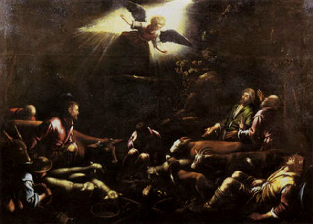 francesco-bassano-the-younger-the-annunciation-to-the-shepherds